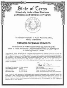 CERTIFICACION STATE OF TEXAS